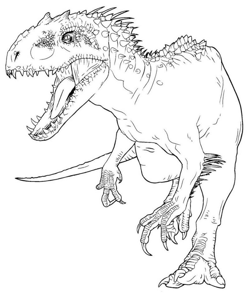 Jurassic Park Indominus Rex Coloring