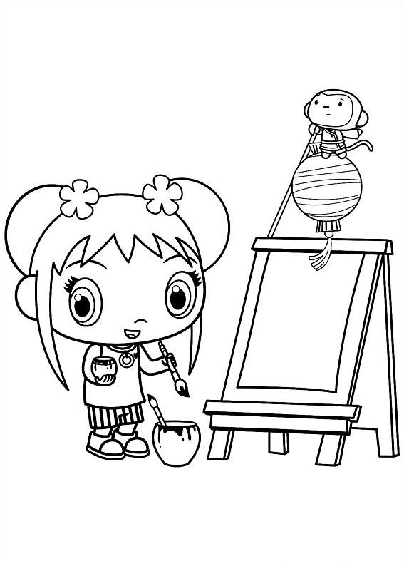 Ni Hao Kai-Lan coloring picture (With images) | Kai lan, Coloring ... | 794x567