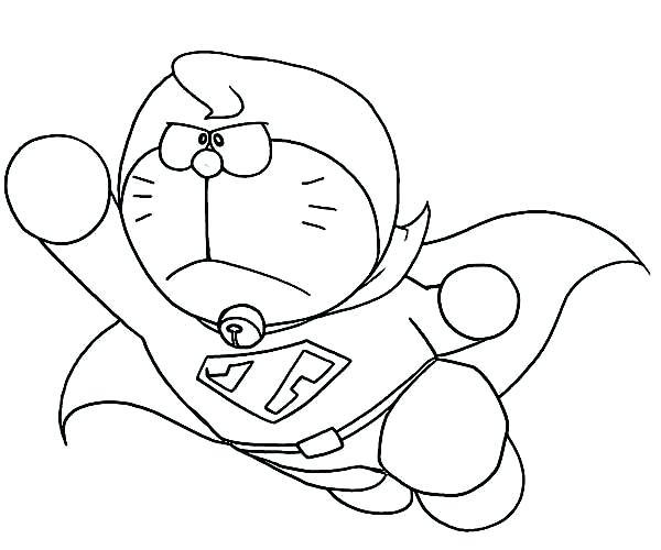 Super Doraemon Coloring Page - Free Printable Coloring ...