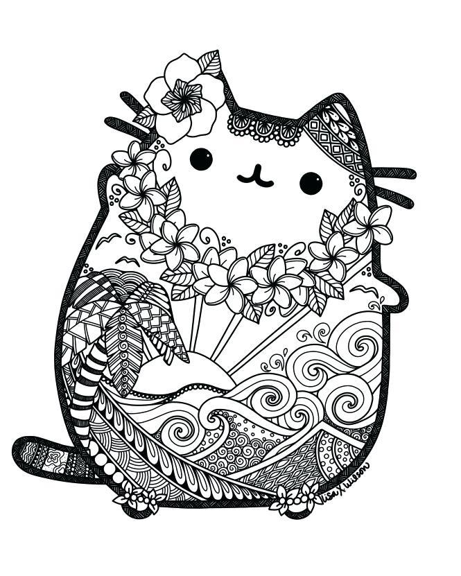 Cute Pusheen Mandala Coloring Page Free Printable Coloring