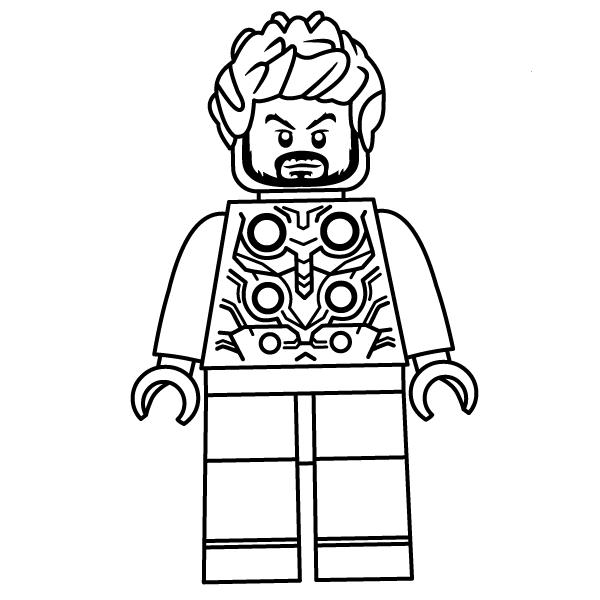 Kleurplaat Cactus Simpel Lego Thor In Thor Ragnarok Coloring Page Free Printable