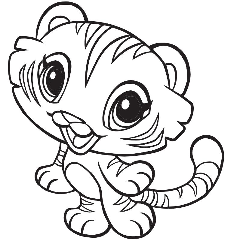 картинки раскраски с милыми животными