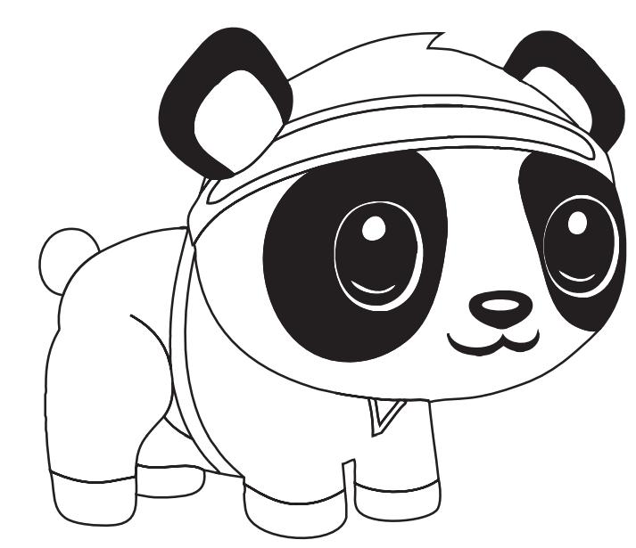 Cartoon Panda Coloring Page - Free Printable Coloring ...