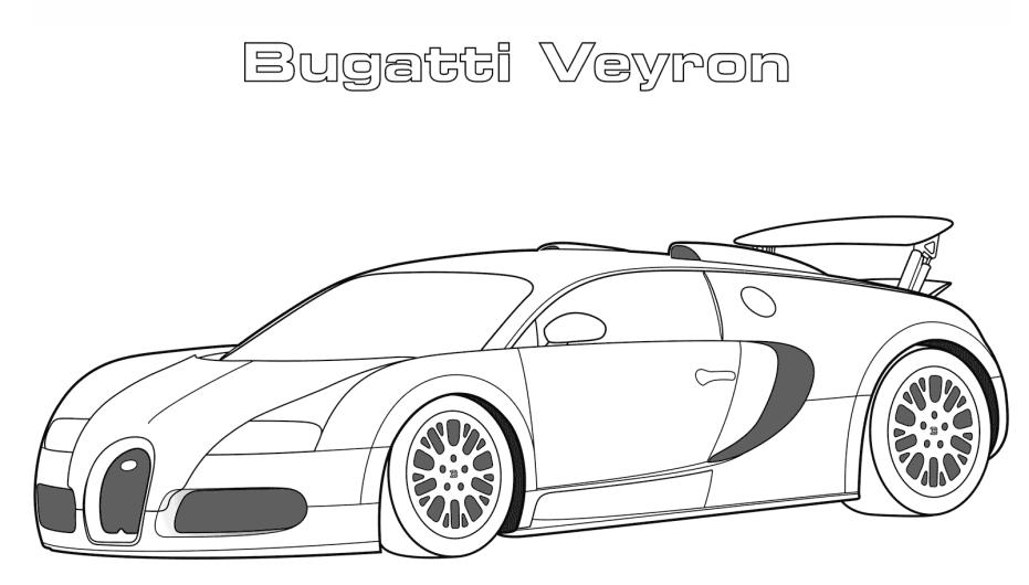 Bugatti Veyron Coloring Page - Free Printable Coloring ...