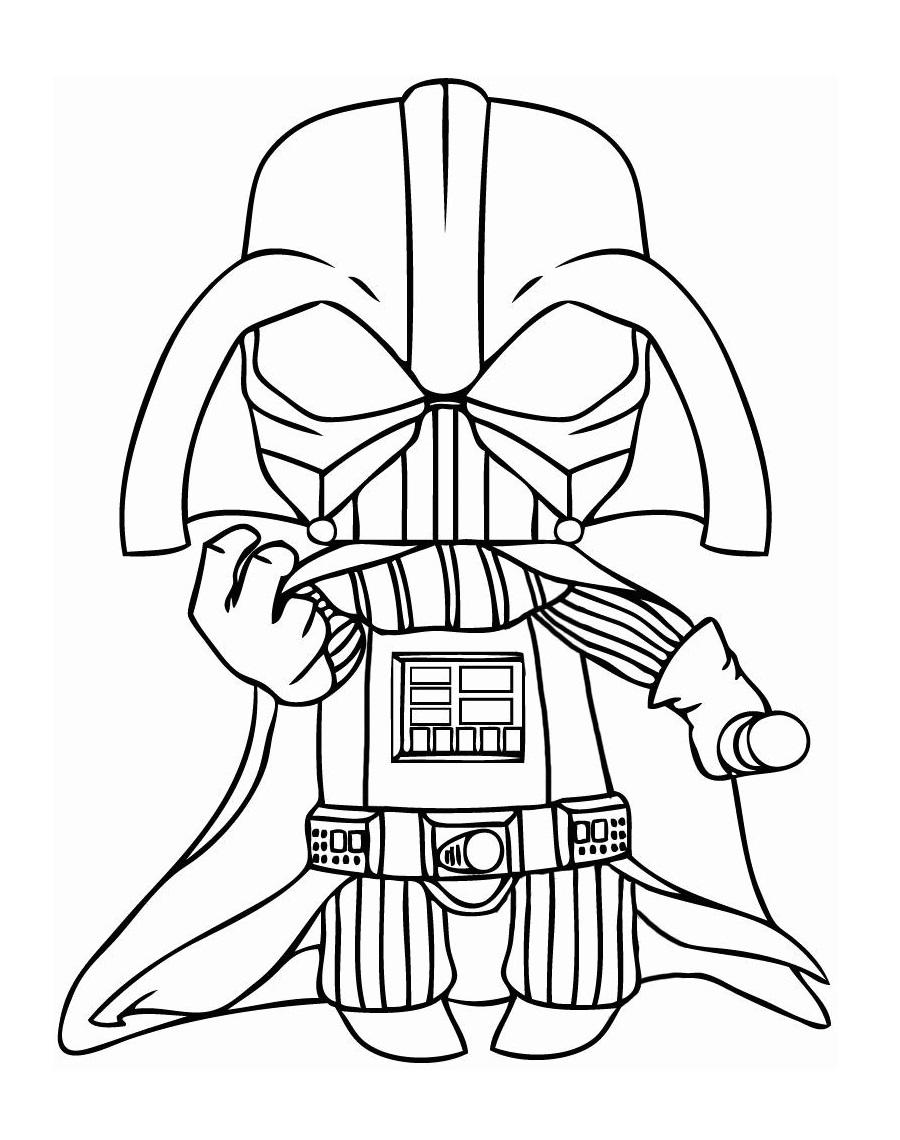 darth vader's mask coloring page  free printable coloring