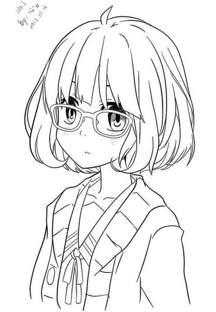 Kuriyama Mirai In Anime Coloring Page - Free Printable ...