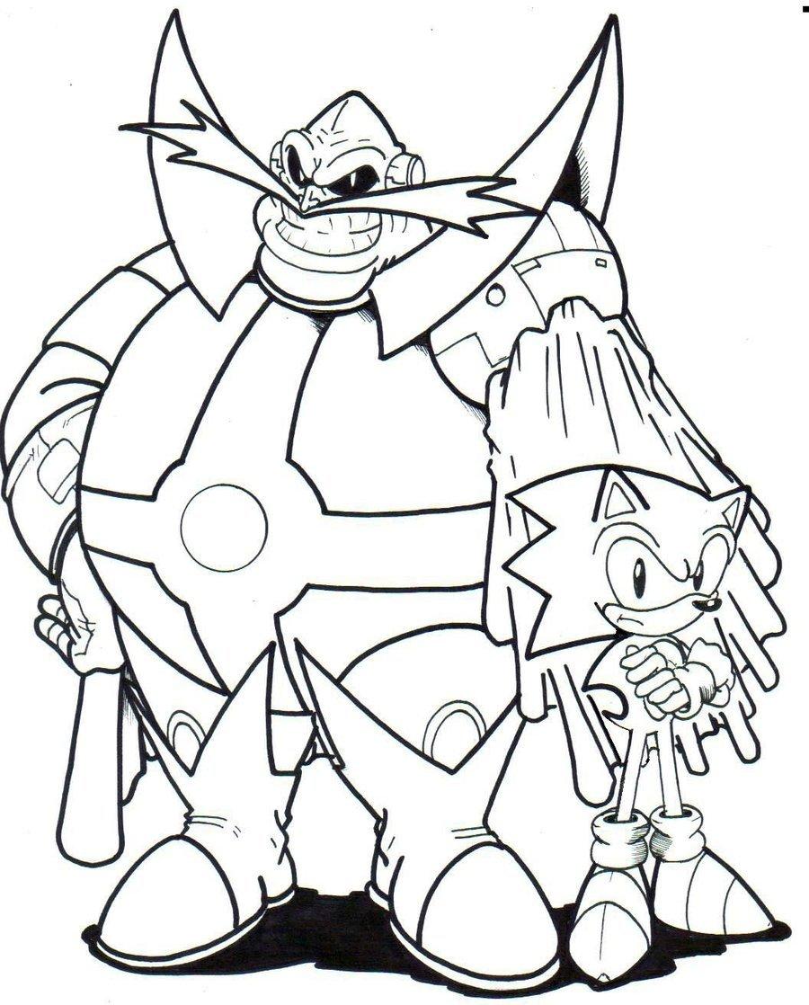 Sonic Generations Dr Robotnik Smile Surfing Eggman Coloring Bw ... | 1118x900