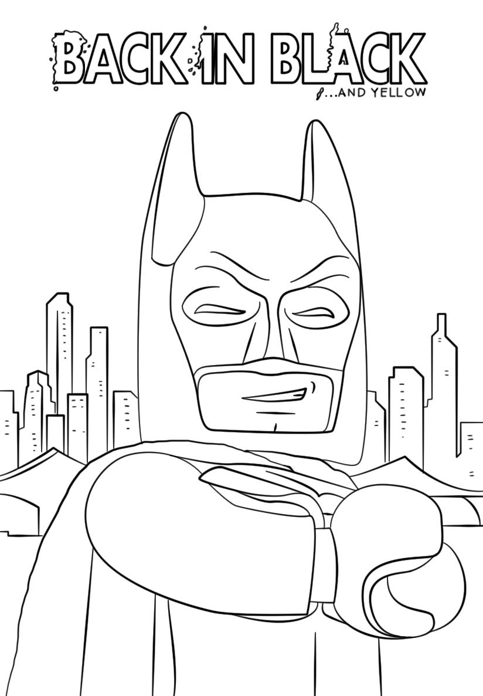 lego batman smiling coloring page  free printable