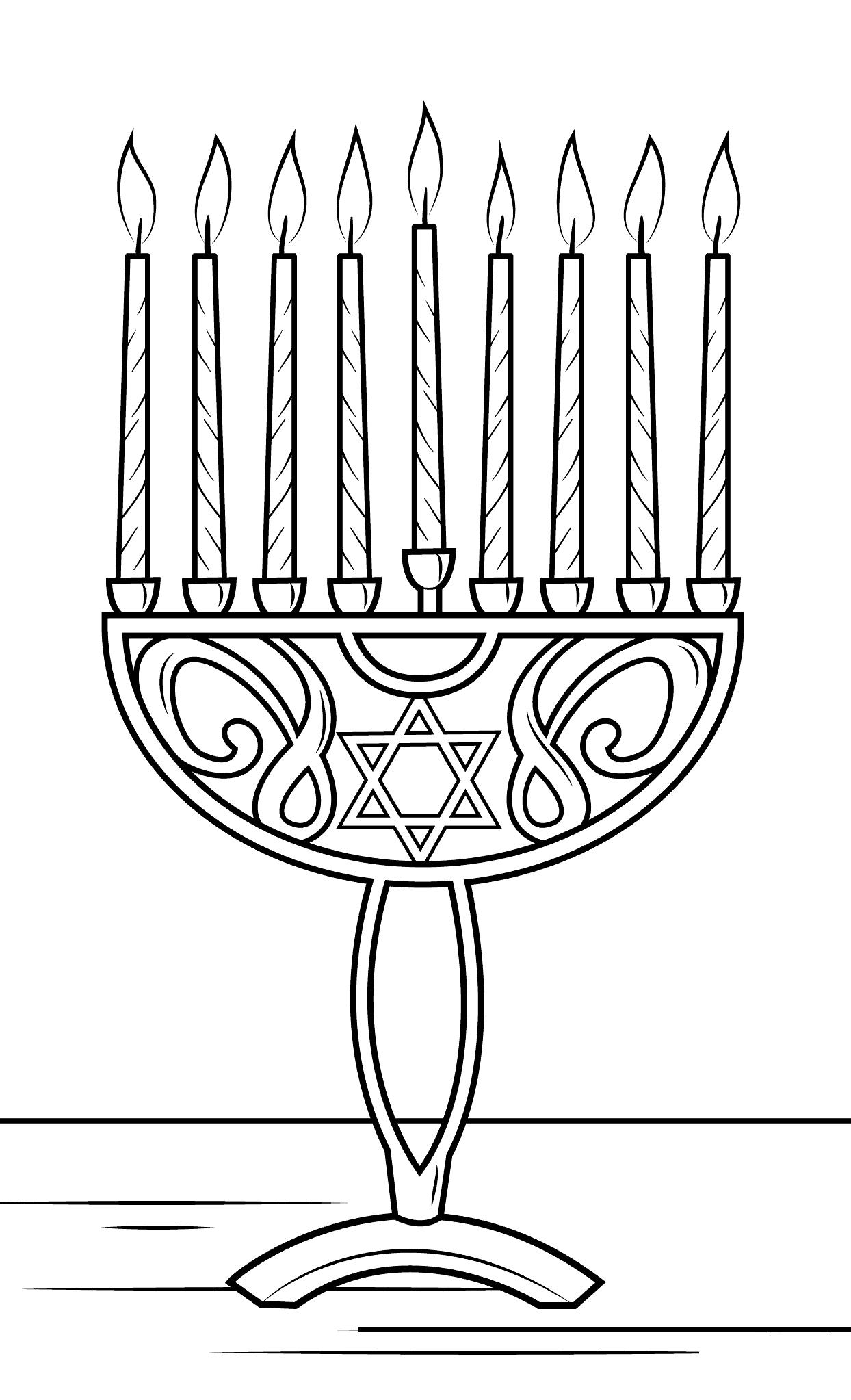 Hanukkah Menorah Coloring Page - Free Printable Coloring ...