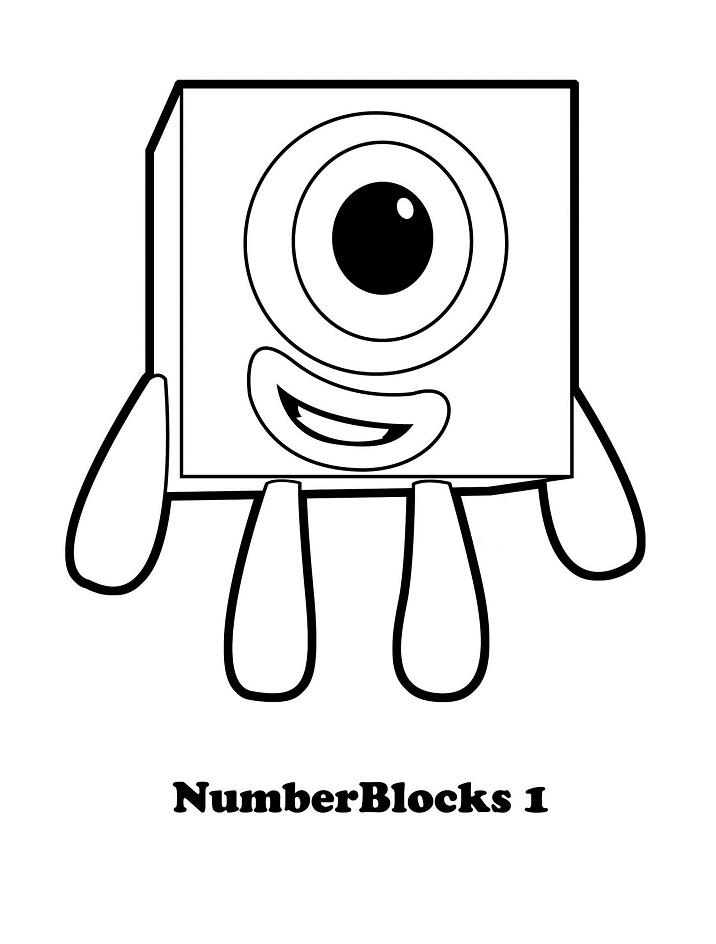 Numberblocks 1 Coloring Page Free Printable Coloring