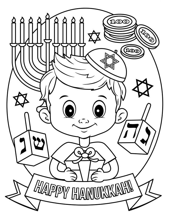 Happy Hanukkah Coloring Page - Free Printable Coloring ...