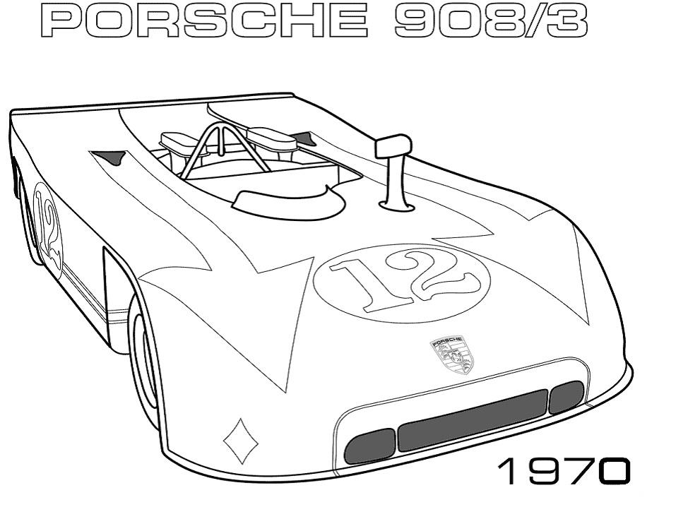 1970 porsche 9083 coloring page free printable coloring