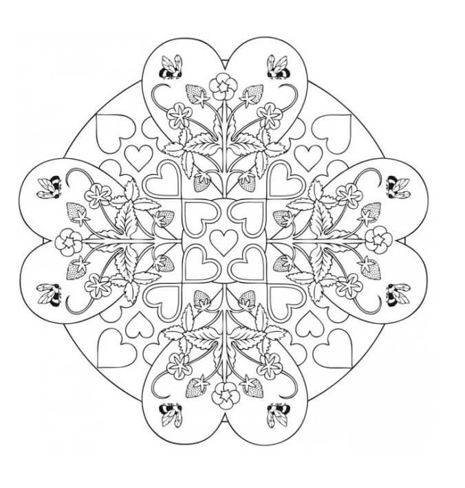 4 Heart Mandala