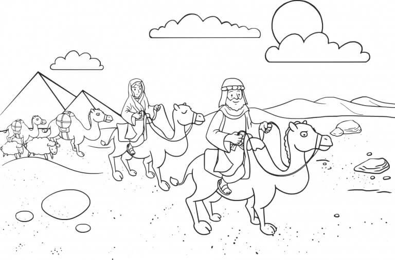 Abraham and Sarah Traveling