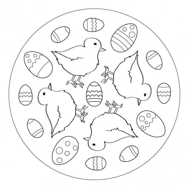 Adorable Easter Mandala