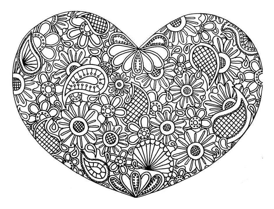 Adult Heart Mandala