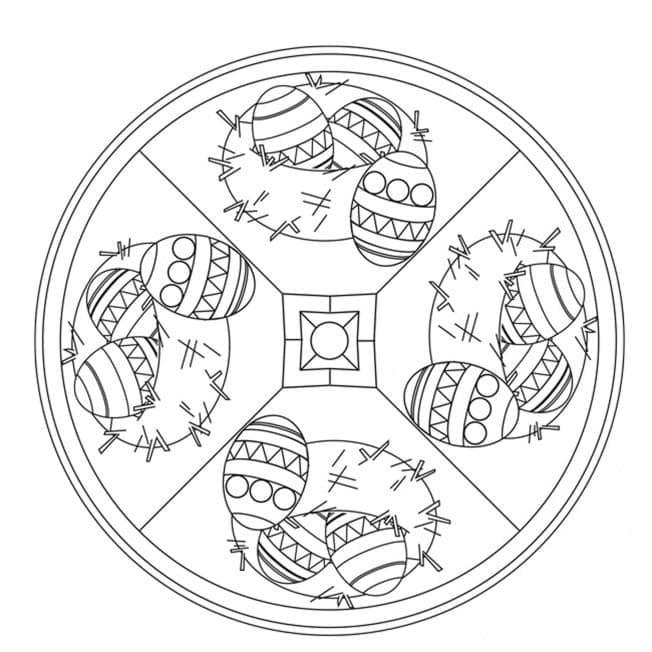 Amazing Easter Mandala