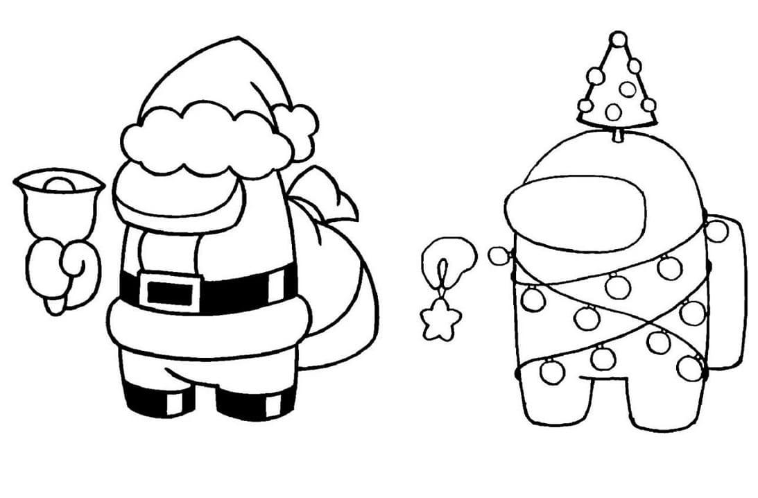 Among Us Santa and Christmas Tree