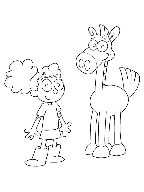 Annie with Pony