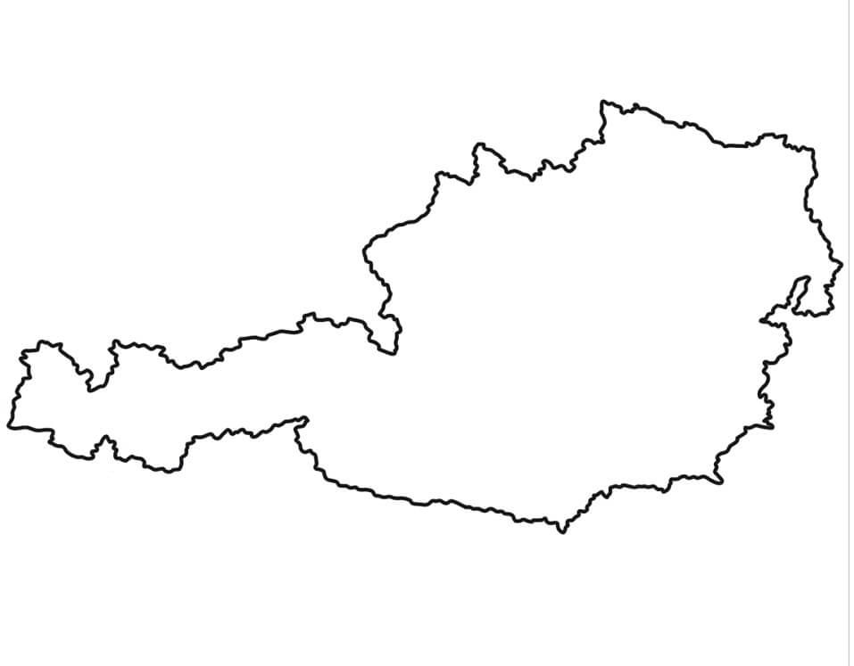 Austria Outline Map