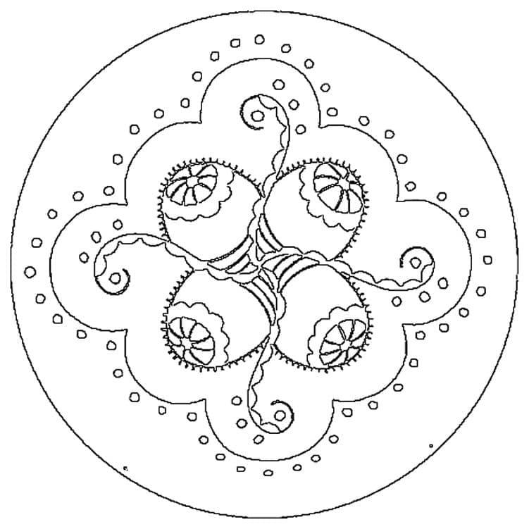 Awesome Easter Mandala