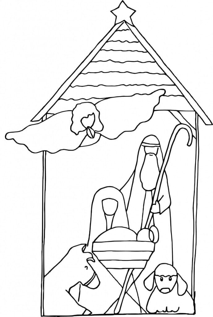 Baby Jesus Birth Scene