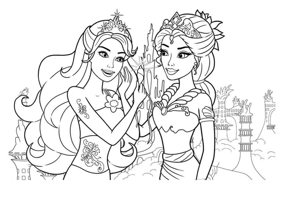 Barbie Mermaid and Friend