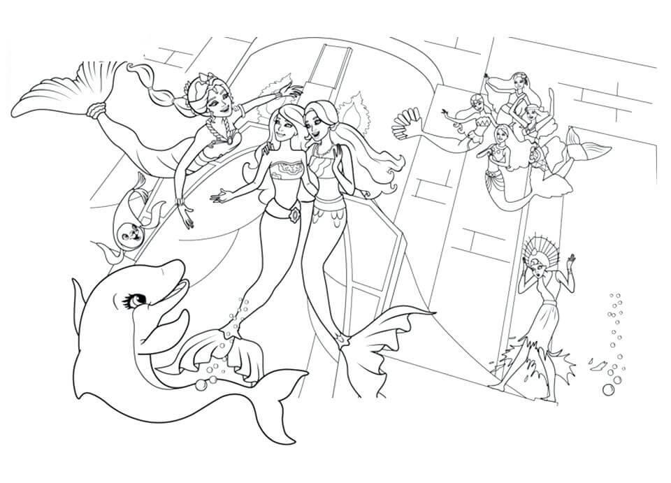 Barbie Mermaid and Friends