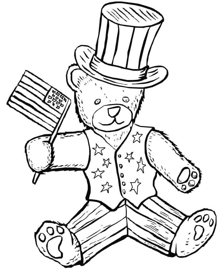 Bear Patriotic