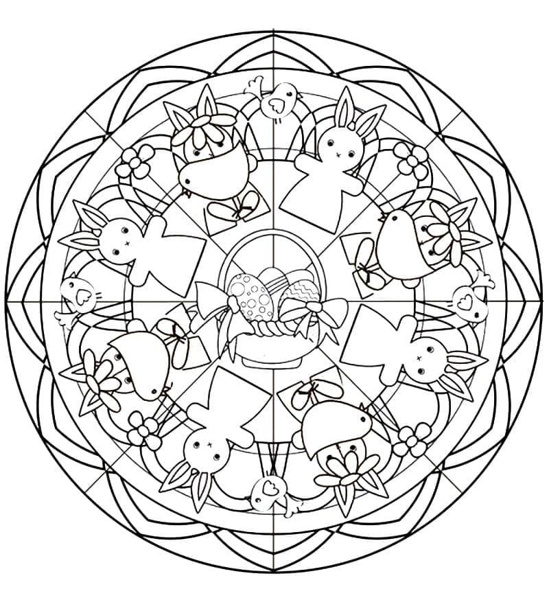 Beautiful Easter Mandala