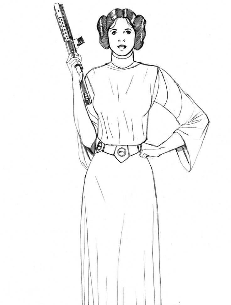 Beautiful Princess Leia
