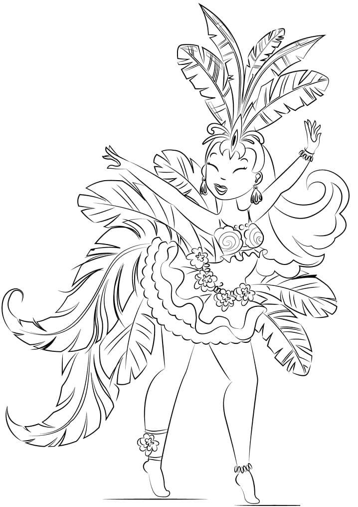 Beautiful Samba Dancer