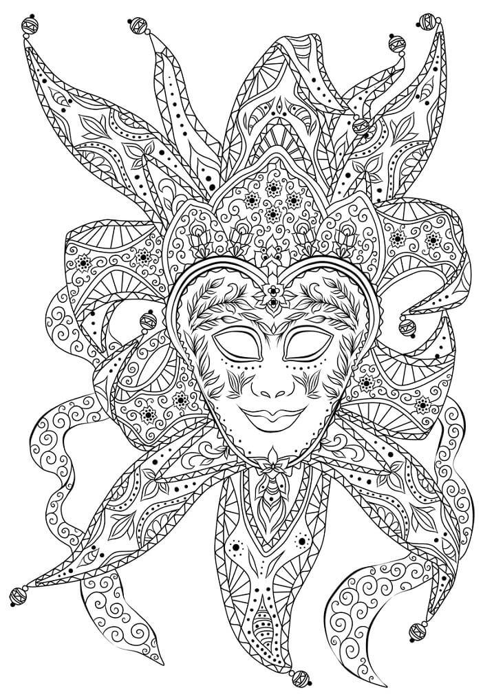 Bouffon Venetian Mask Mardi Gras
