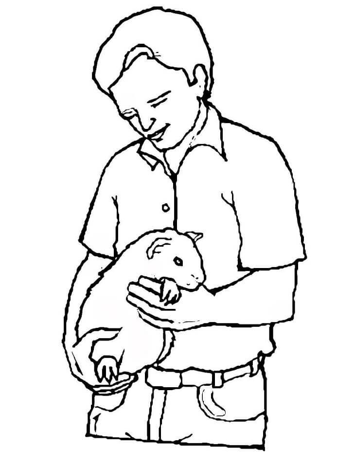 Boy with Guinea Pig