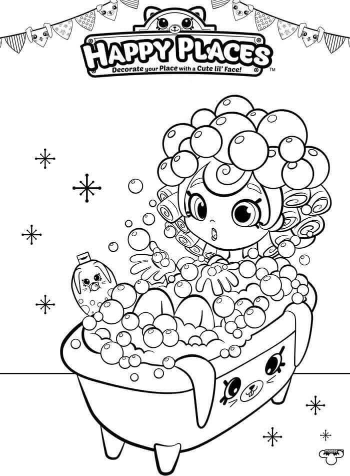 Bubbleisha Shopkins having bath