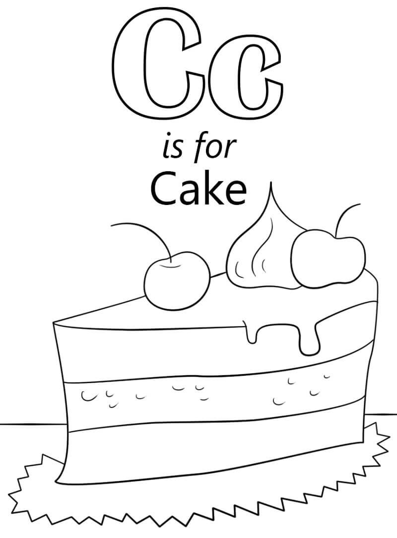 Cake Letter C