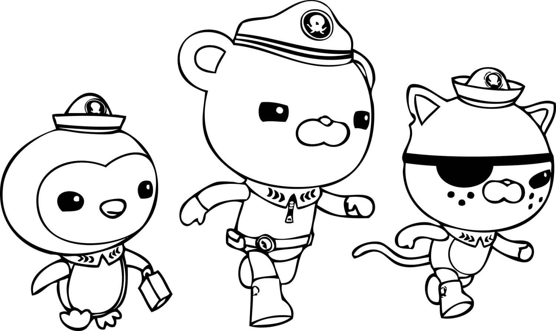 Captain Barnacles, Kwazii and Peso from Octonauts