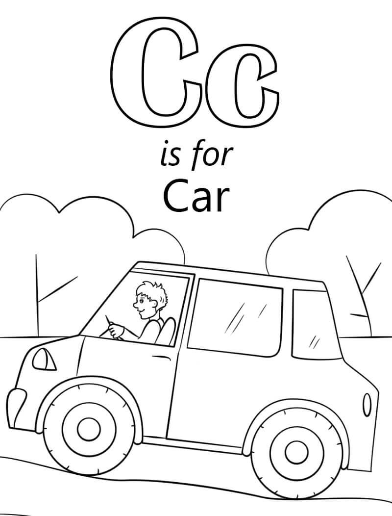 Car Letter C