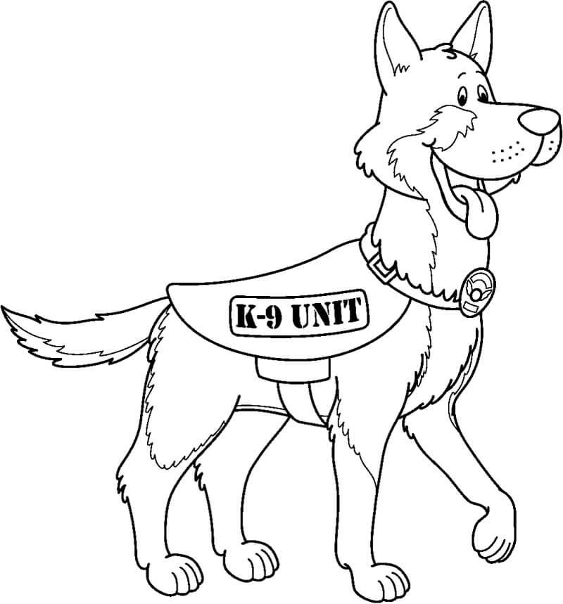 Cartoon German Shepherd