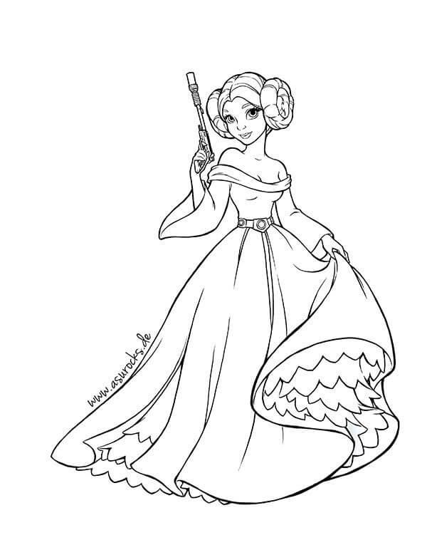 Cartoon Princess Leia