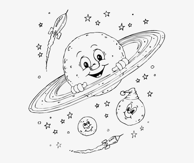 Cartoon Saturn
