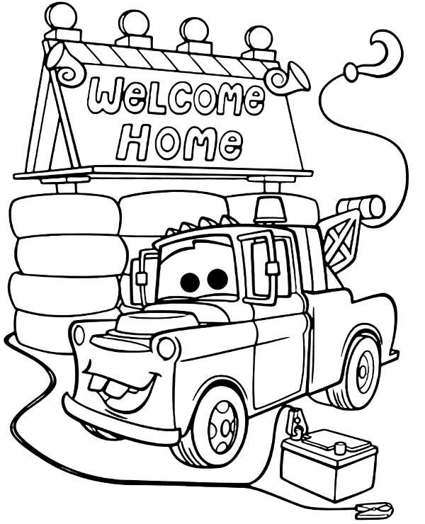 Cartoon Welcome Home