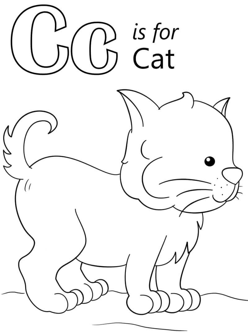 Cat Letter C