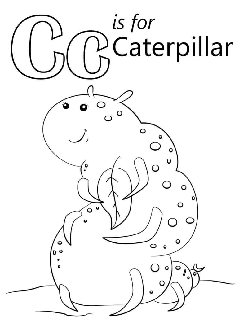 Caterpillar Letter C