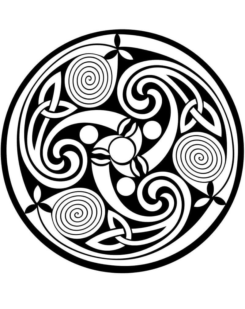 Celtic Spiral Mandala