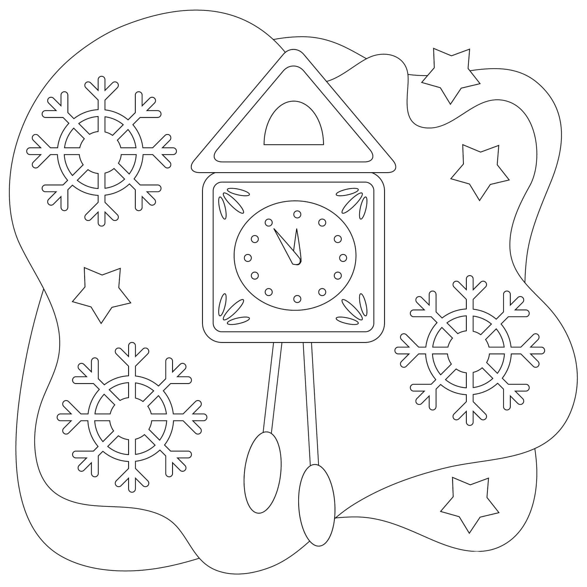 Clock in snow
