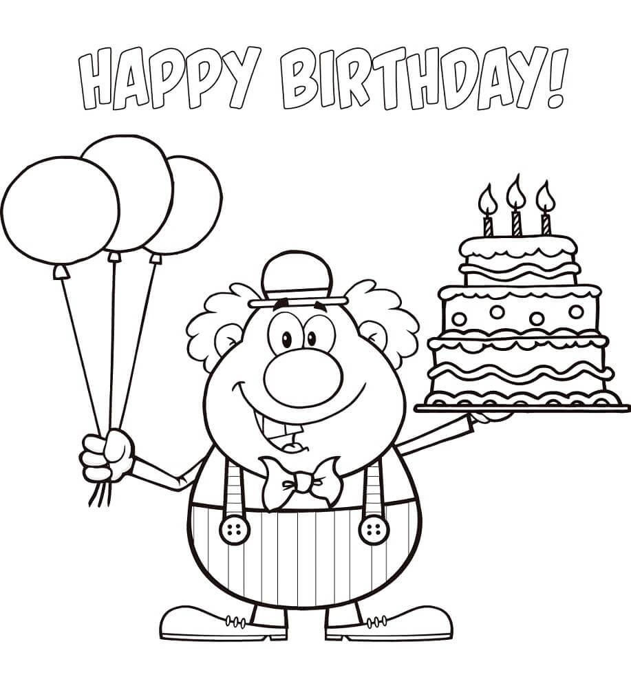 Clown and Birthday Cake