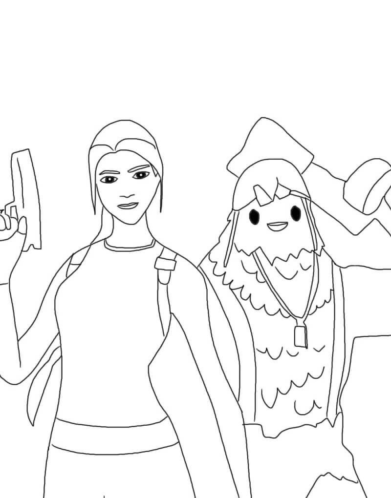 Cluck and Lara Croft Fortnite