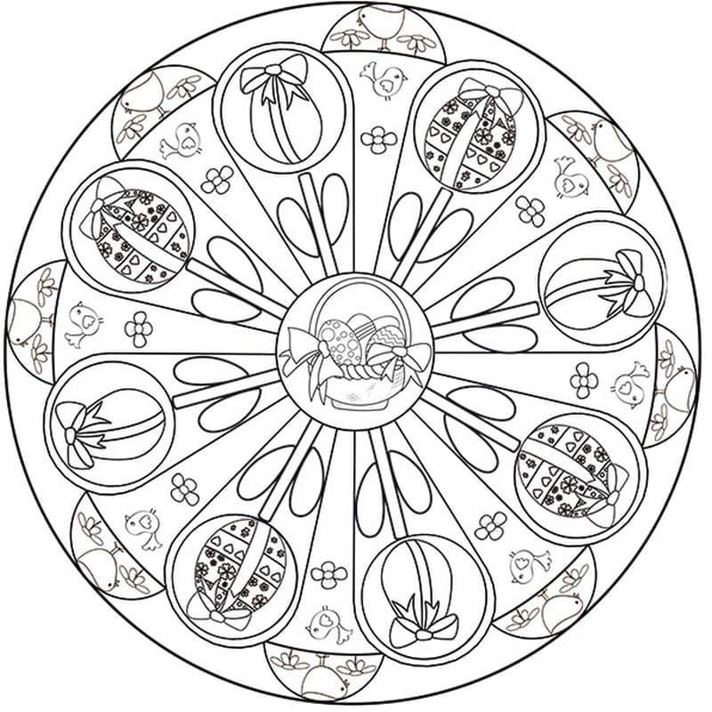 Complex Easter Mandala
