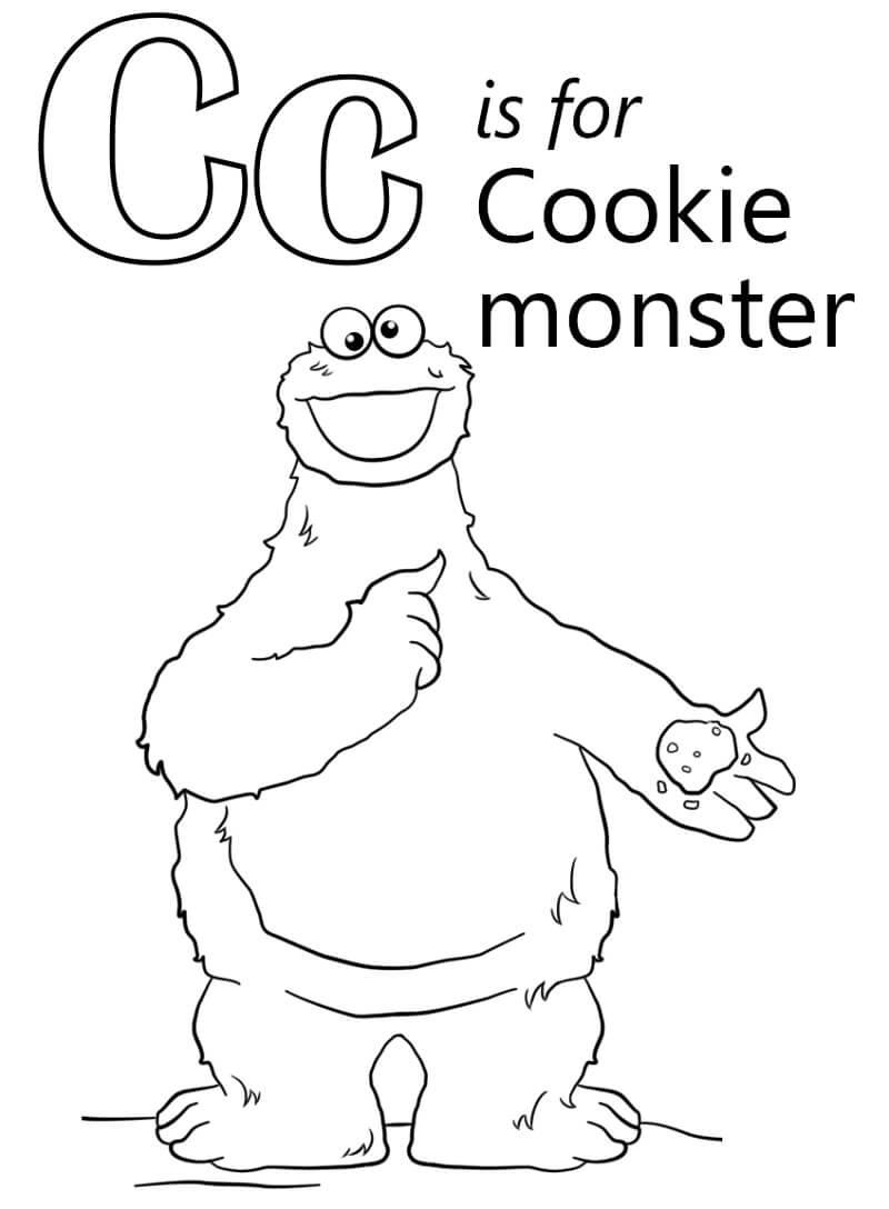 Cookie Monster Letter C